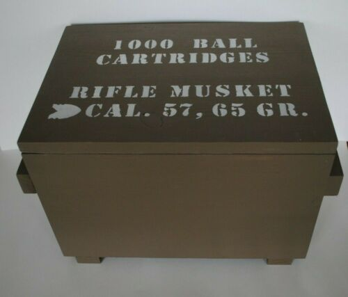 Ammo Box Green - Wood -1000 Ball Cart. - Cal. 57 - Civil War - SPECIAL ORDER!!