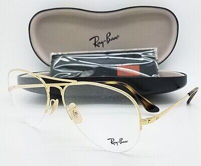 NEW RayBan RX Aviator Frame RX6589 2500 59mm Gold Semi Rimless AUTHENTIC (59mm Semi Rimless Aviator Sunglasses)