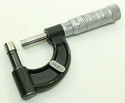 Starrett 569 Tube Micrometer 1 Outside .001 Usa Machinist Measuring 1 Inch