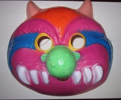 My Pet Monster Halloween Adult Costume Mask Colorful Fun Ben Cooper 1986 NOS