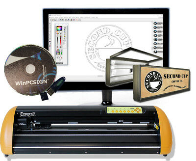 24 Vinyl Cutter Gcc Ii Expert Sign Making Software Cut Arts Lettering