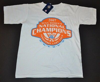 - NEW Tennessee Lady Vols 2007 NCAA National Champs YOUTH SMALL T-Shirt