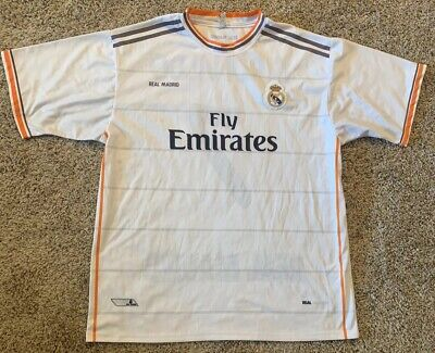 MLS Soccer Jersey Real Madrid C Ronaldo Fly Emirates Size L  for sale  Lubbock