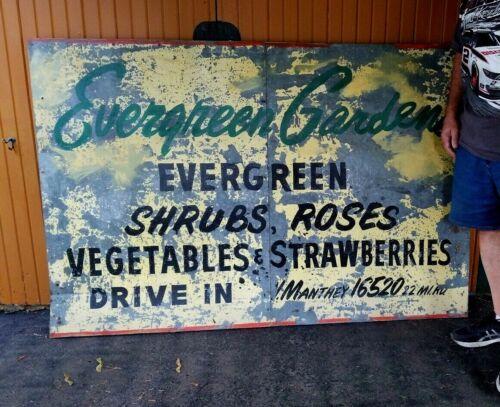 Vintage Large Metal Advertising Sign 4