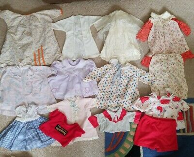 VINTAGE Lot Of 14 BABY DOLL CLOTHES 50's-70's