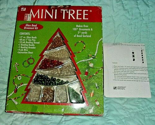 "New 2003 Westrim Glass Bead Ornament Kit for Christmas ""MINI TREE"""