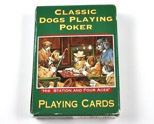 Dogs-Playing-Poquer-perros-pokerhunde-Juego-de-Cartas-EE-UU-jugando-a-las-Verde