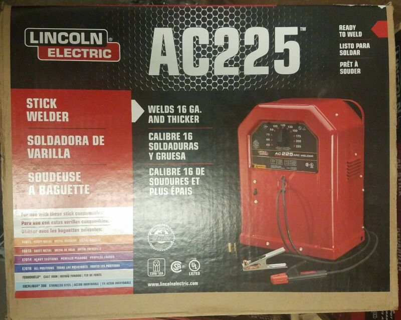 NEW!!  LINCOLN ELECTRIC 225 Amp Arc/Stick Welder AC225S, 230V