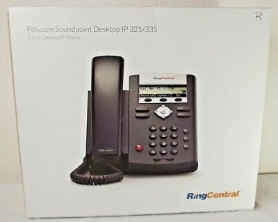 Ring Central Polycom IP 335 Soundpoint VOIP Telephone With Power Cord Polycom Corded Telephone