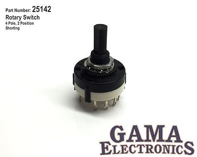 Rotary Switch 4 Pole 2 Positions - P/N 25142