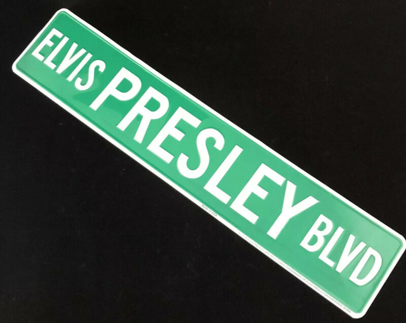 Elvis Presley Blvd. Street Sign / DIRECT FROM MEMPHIS / GRACELAND