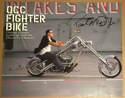 Paul Teutul Jr Autographed/Signed Orange County Choppers OCC Fighter Bike Poster