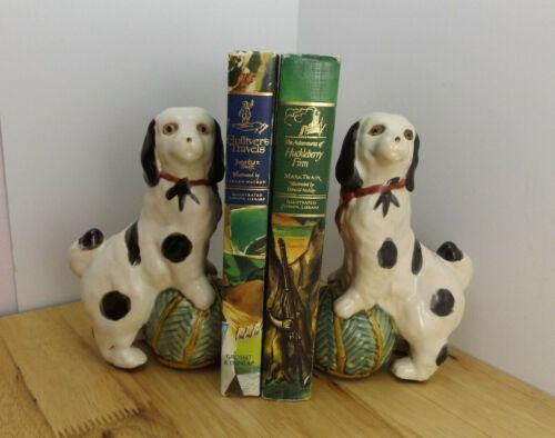 Vintage Cavalier King Charles Springier Spaniel Bookends Set of 2