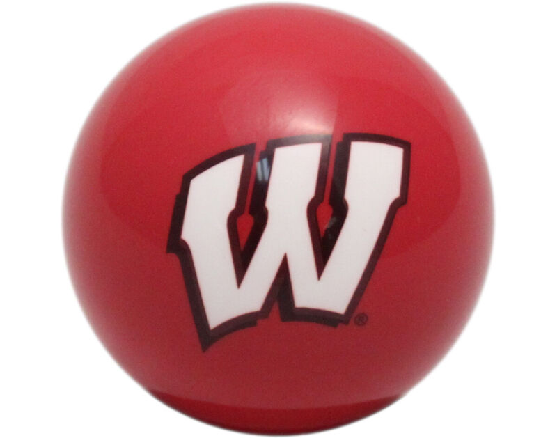 NCAA Imperial College Wisconsin Badgers Pool Billiard Cue or 8 Ball - Red