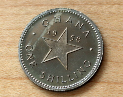 1958 Ghana 1 Shilling Proof