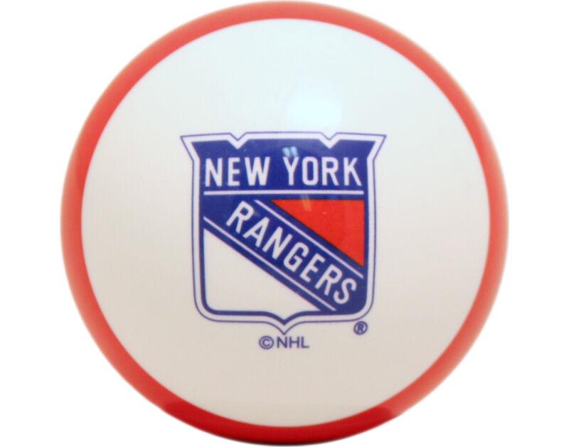 NHL Imperial New York Rangers Pool Billiard Cue/8 Ball -  Red