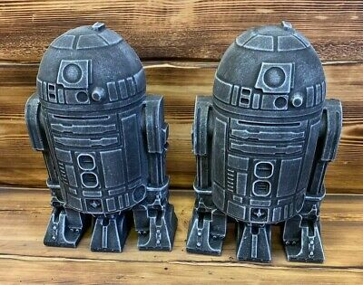 STONE GARDEN STAR WARS LARGE PAIR OF R2D2 DETAILED GIFT ORNAMENT