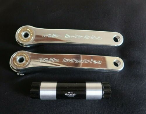 White Industries 175 mm  POLISHED M30 MOUNTAIN Cranks with spindle