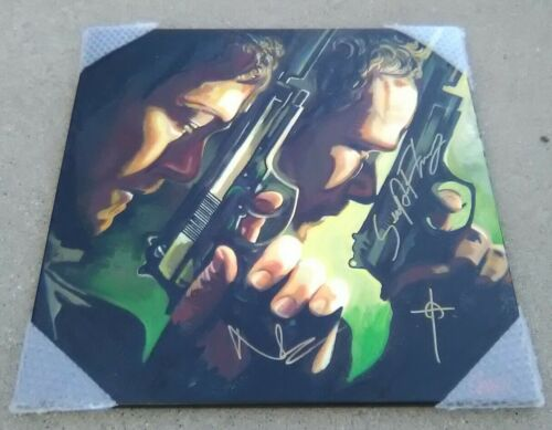 NORMAN REEDUS SEAN PATRICK FLANERY Boondock Saints SIGNED 24x24 Canvas Painting