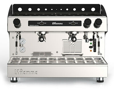 New Fiamma Caravel Commercial 2 Group Espresso Cappuccino Machine
