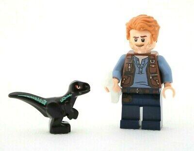 Lego Jurassic World Minifigure Owen Grady 75929 + baby raptor dinosaur
