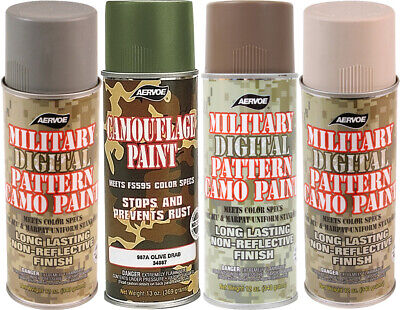 Camo Military Spray Paint Can 12 oz Camouflage Digital Pattern Army -
