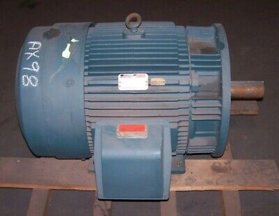 New Reliance 60 Hp Electric Motor 460 Vac 1185 Rpm 404td Frame 3 Phase