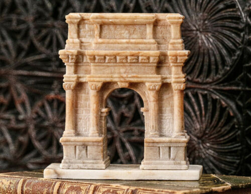 Beautiful Arch of Titus Antique Grand Tour Marble Model Rome Italy