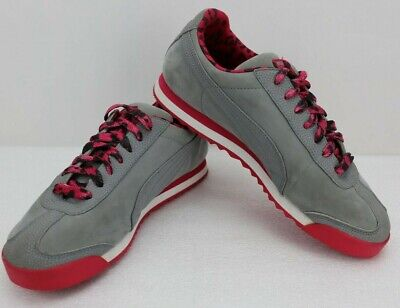 Womens Puma Gray and Pink Suede Classic Size 7 1/2