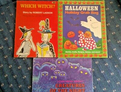 Children's Halloween Books Witches (Lot of 3 Vintage Halloween Children's books Which Witch? Holiday Grab Bag)