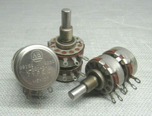Allen Bradley U-200-OHM Type J Potentiometer Lot of 3