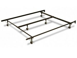 King size metal frame and Stearns and Foster split box spring