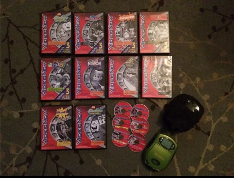 Video Now Personel Player w Bundle Lot of Movies & Carry Case