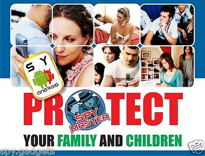 SPY MASTER cell phone surveillance Android phone monitoring Parental Controller