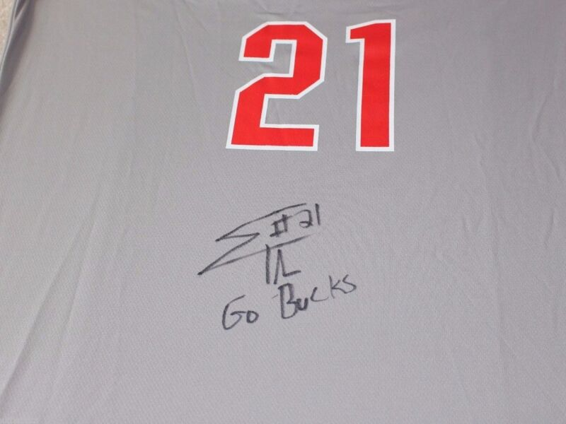 OHIO STATE BUCKEYES EVAN TURNER SIGNED NIKE ELITE JERSEY W/COA OSU MEDIUM NBA