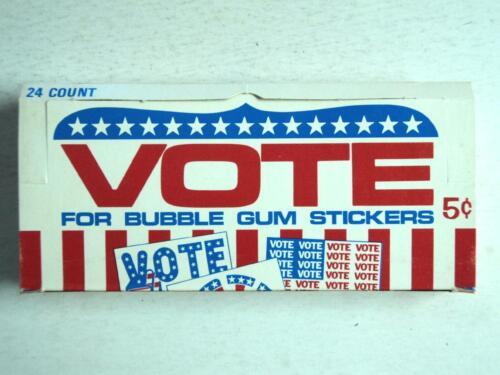 1972 Donruss Vote Display Box MINT  - FLASH SALE