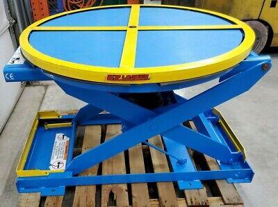 Bishamon Pneumatic Lift Table 4500lb Cap 43 Rotary Ez-loader Pallet Positioner
