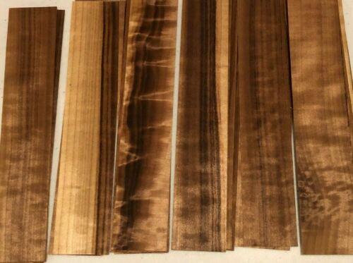 "40 Smoked Aspen Wood Veneer Fingerboard pieces 1/42"" exotic"