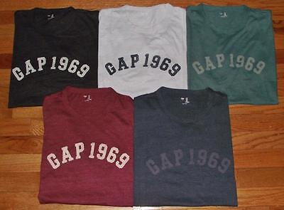 (NWT Mens GAP Distressed 1969 Arch LOGO Graphic Tee T-Shirt 5-Colors All Size *3P)