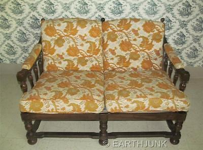 Oak Upholstered Loveseat - Ethan Allen Royal Charter Oak Collection Upholstered Love Seat 16 7462
