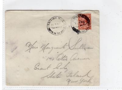 "GB: 1929 cover with BRITISH MAIL EX RMS ""CALEDONIA"" postmark (C36386)"
