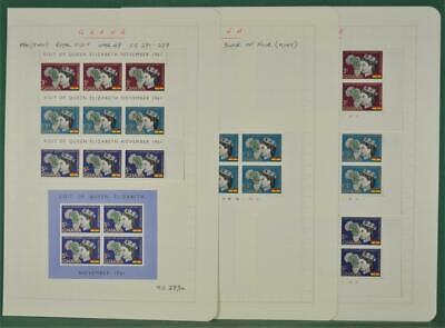 GHANA STAMPS 1961 ROYAL VISIT  H/M & U/M ON 3 PAGES (Z167)