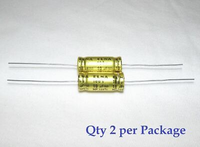 10uf 100v Non-polarized Electrolytic Axial Lead Capacitor 2 Pieces Np Bp