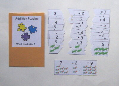 Teacher Made Math Center Common Core Learning Resource Game Addition Puzzles
