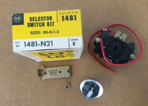 ALLEN-BRADLEY 1481-N21 MOTOR CONTROL SELECTOR SWITCH KIT A-B
