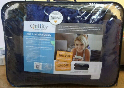 """Quility Weighted Blanket 60""""x80"""" 20 LBS Blue/Gray {EH-Q}"""