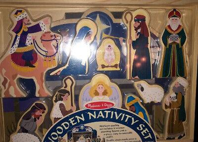 Melissa and Doug Wooden Nativity Set Sealed