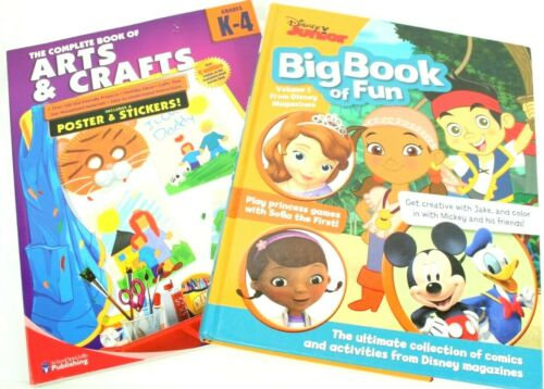 Disney Junior Lot of 2 Activity Books Big Book of Fun & Book of Arts & Crafts Nw