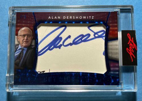 ALAN DERSHOWITZ 2020 DECISION CUT SIGNATURE AUTO BLUE FOIL ENCASED CARD / 5