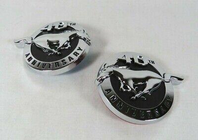 FORD MUSTANG 40th ANNIVERSARY EMBLEMS FENDER PONY BADGES horse sign symbol (Horse Emblem)